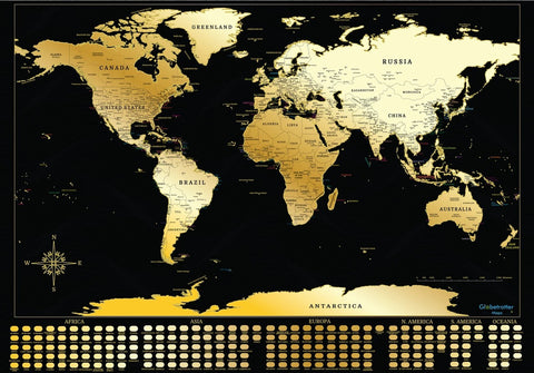 Globetrotter™  Scratchable World Map