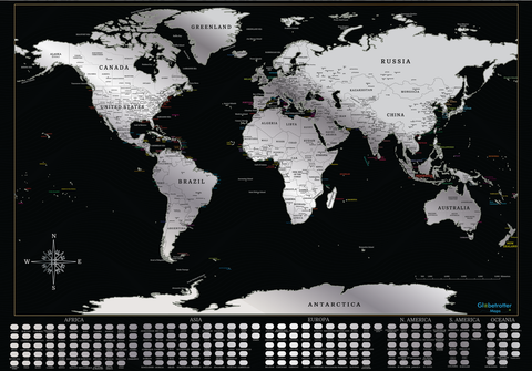 Globetrotter Maps® Scratchable World Map - SOLD OUT