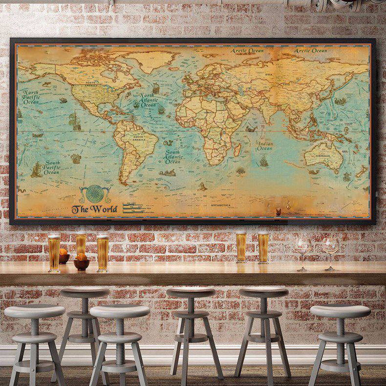 Premium Vintage World Map