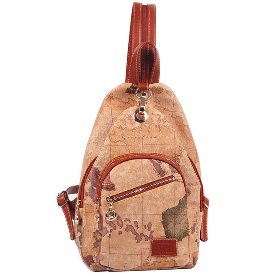 Premium vintage world map backpack wanderland designs premium vintage world map backpack gumiabroncs Gallery