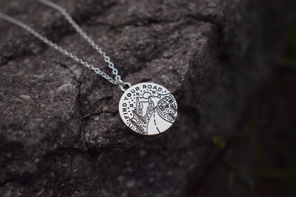 """Find Your Own Road"" Necklace"