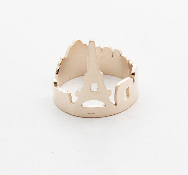 Premium Adjustable Eiffel Tower Skyline Ring