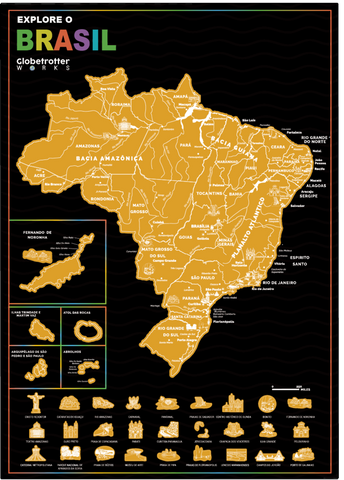 Explore Brazil Adventure Map.