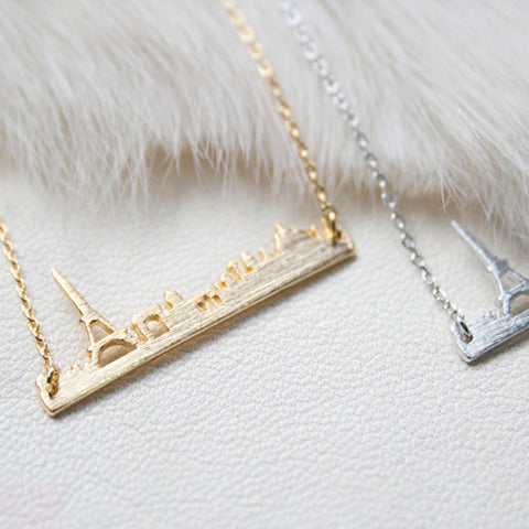 Paris Skyline Necklace - FREE SHIPPING