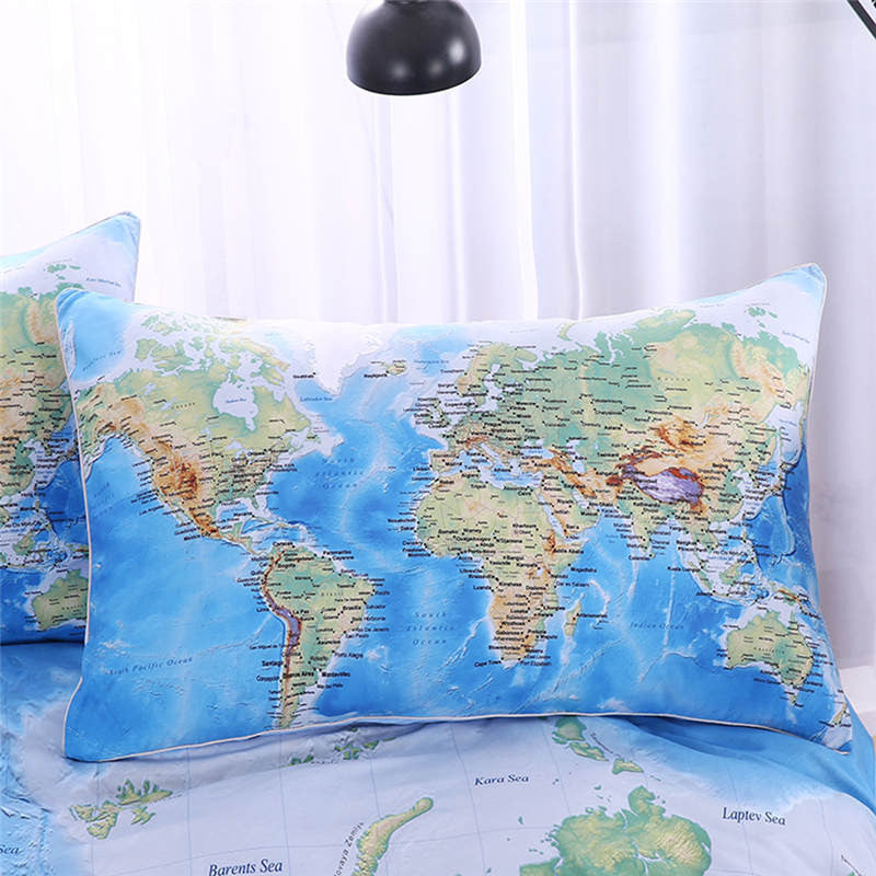 Premium world map bedding 3 pieces free shipping worldwide premium world map bedding 3 pieces free shipping worldwide gumiabroncs Image collections