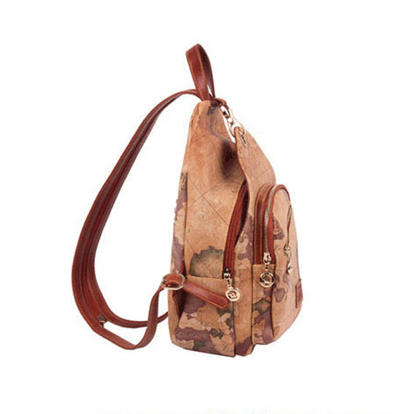 Premium Vintage World Map Backpack