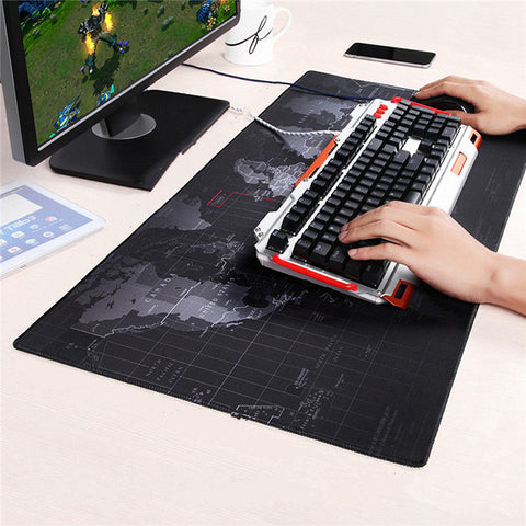 Premium Large World Map Mouse Pad