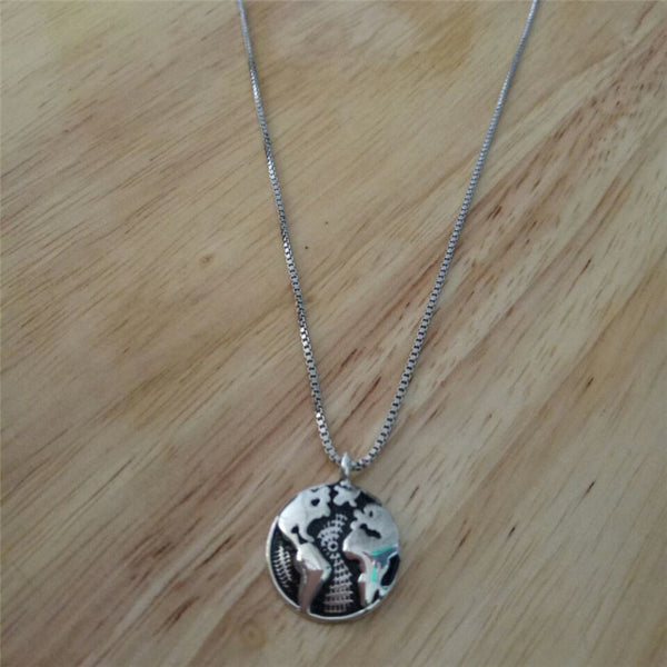 Premium Silver Globe Necklace - FREE WORLDWIDE SHIPPING
