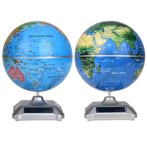 Premium Solar Powered Spinning Globe