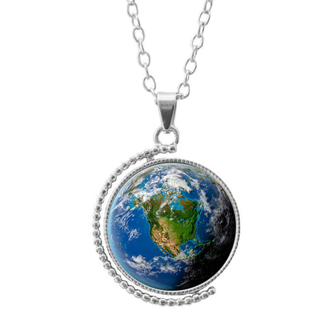 Rotating Mother Earth Necklace
