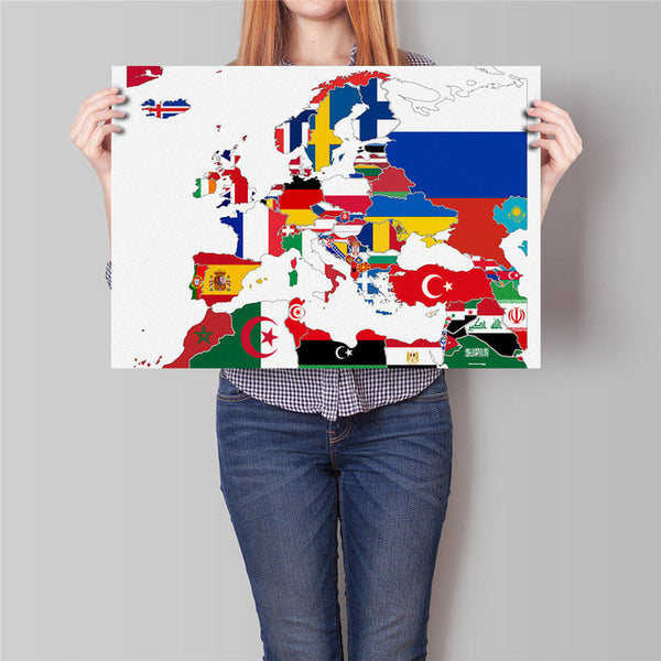 World Map Made of Country Flags