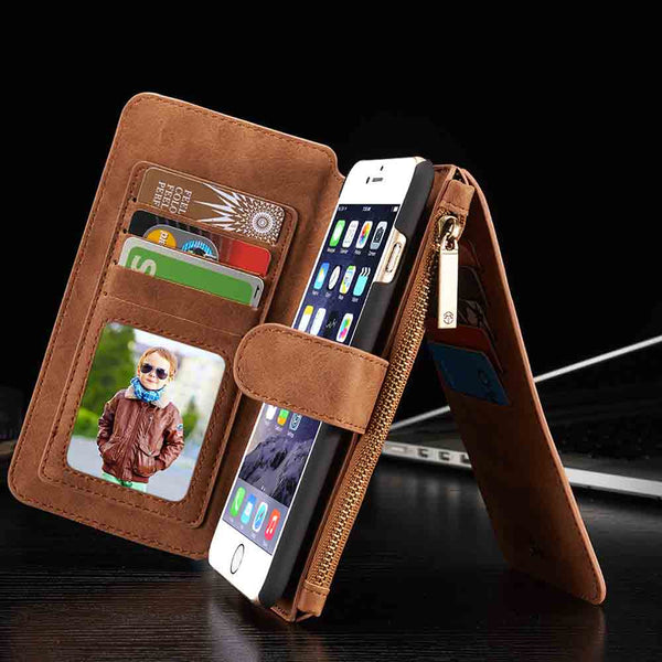 Premium Magnetic Leather Phone Wallet - FREE SHIPPING WORLDWIDE