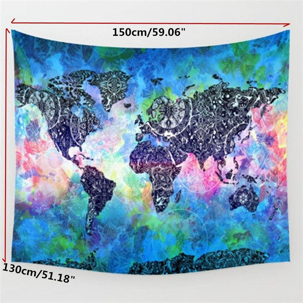 World Map Mandala Tapestry FREE SHIPPING WORLDWIDE Wanderland - Mandala map of the world