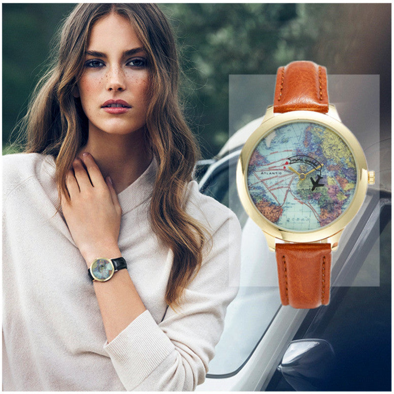 Women's Leather Wanderlust Watch