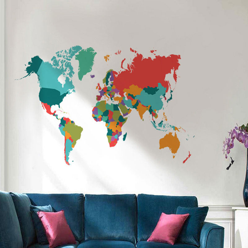 Colorful world map decal wanderland designs colorful world map decal colorful world map decal gumiabroncs Image collections