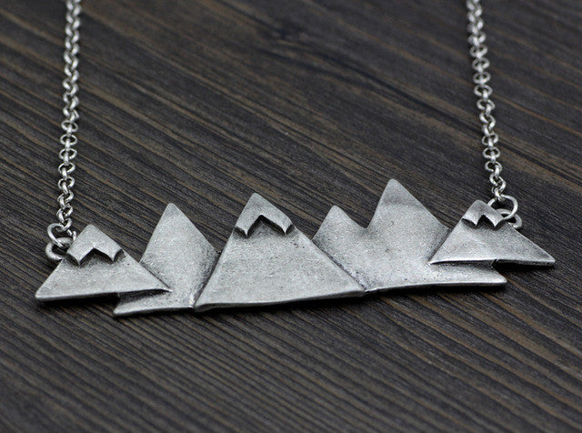 Beautiful Mountain Peaks Necklace