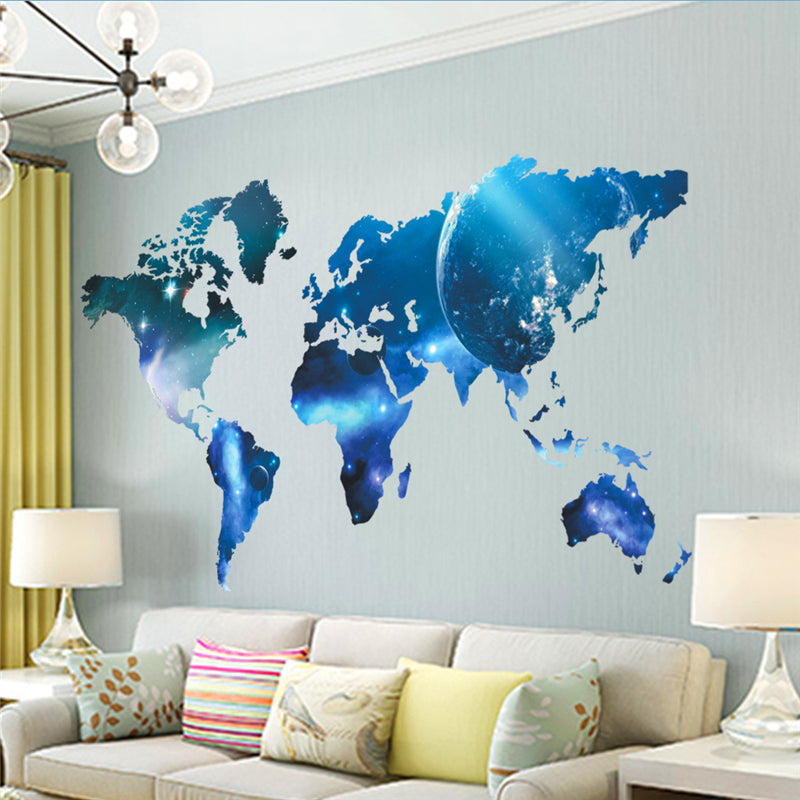 ... Galactic World Map Wall Decal ...