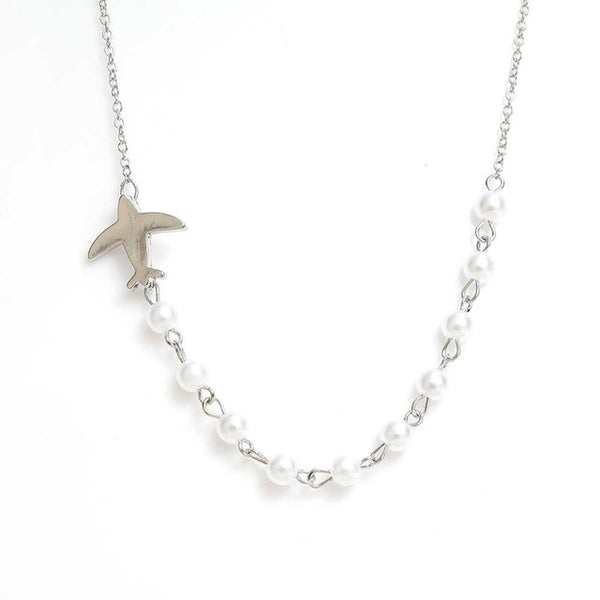 Beautiful Airplane Pearl Necklace