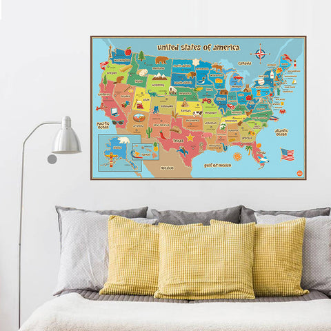 Ultimate USA Map for Kids