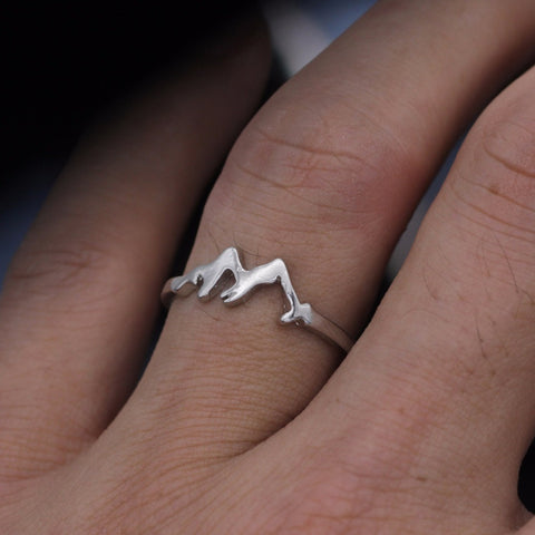 Premium Mountain Range Ring