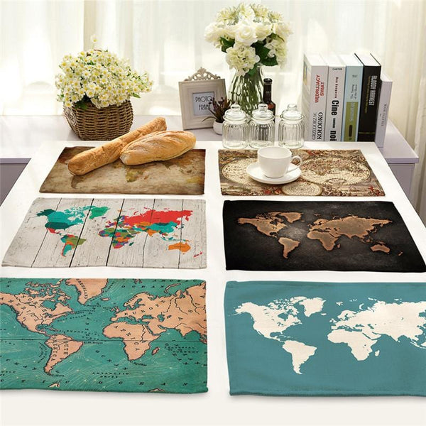 World Map Table Placemats - Various Designs