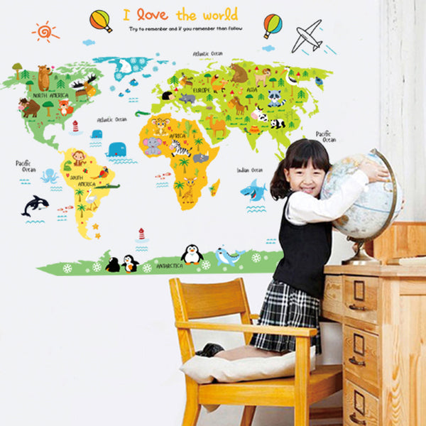 My Little World Assorted Animals Removable Wall Sticker