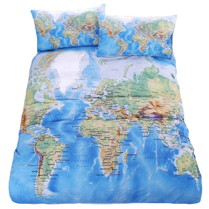 Premium world map bedding 3 pieces free shipping worldwide premium world map bedding 3 pieces free shipping worldwide gumiabroncs Gallery
