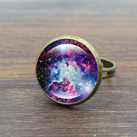 Adjustable Glass Galaxy Ring - SPECIAL OFFER