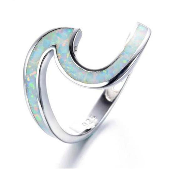Opal Wave Ring