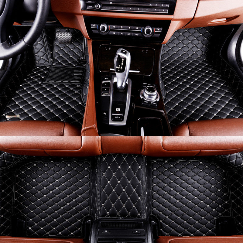 Diamond Floor Mats (Black With White Stitching)   Aston Martin