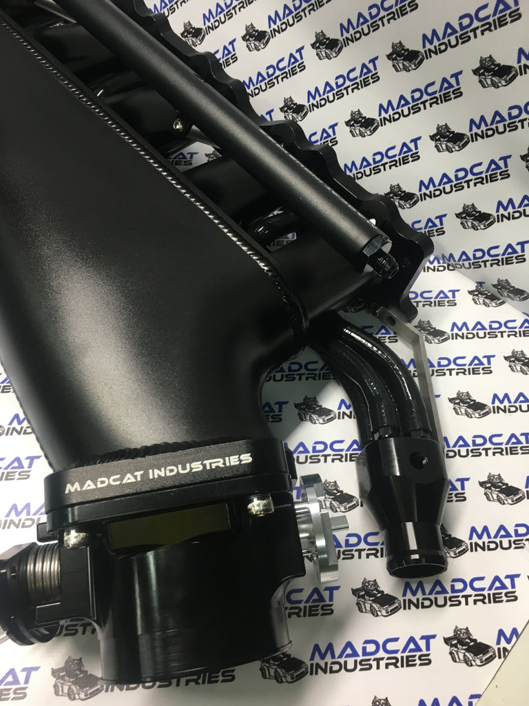 RB25DET BLACK Intake Manifold Forward Facing Plenum Complete