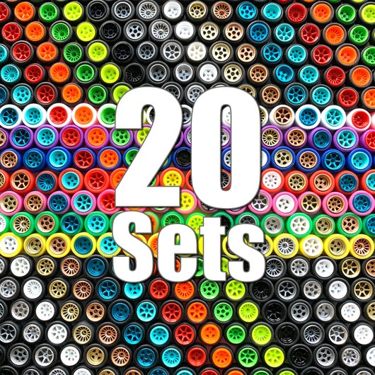 20 Sets Value Pack with Alternative Tires ($15 Savings & FREE SHIPPING World-Wide)
