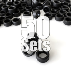 Rubber Tires 50 Sets (200 Pieces) Value Pack (25% off & FREE SHIPPING World-Wide)