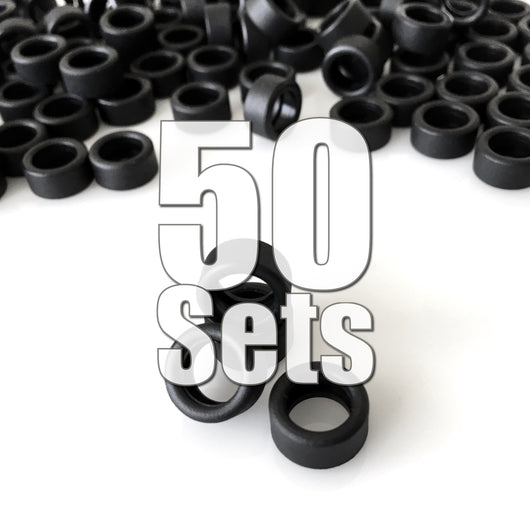 Rubber Race Tires 50 Sets (200 Pieces) Value Pack ($25 Savings & FREE SHIPPING World-Wide)