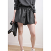 Faux Leather Hot Pants With Drawstring,Women - Apparel - Shorts - High Waisted,d/s by Drive Store,Epiq Wear