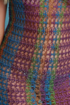 Metallic Loose Knit Double Slit Cover Up Maxi Dress,Clothes, Dresses,CollectiveFab,Epiq Wear
