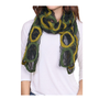 Green and Yellow Circle Print Scarf,Women - Accessories - Scarves,Le Chic, LLC,Epiq Wear