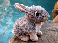 Plush Mini Mister Bunny Toy with Wild Texas Buns Button - Bunny Rabbit Lover Gift - Mister's Garden