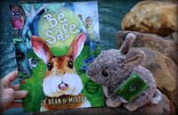 Bunny Rabbit Gift Book & Plush Mini Mister the Bunny - Easter Gift - Mister's Garden