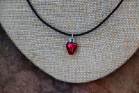 Strawberry Charm Pendant Necklace - Mister's Garden