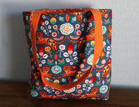 Floral Orange Cats Bag