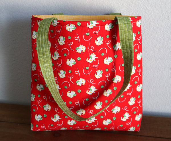 Red Kittens & Yarn Bag