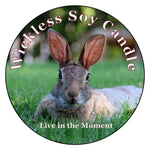 Mister's Garden Wickless Soy Candle - Finley Grace - Bunny Candle - Rabbit Lover Gift