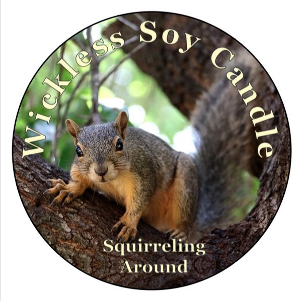 Mister's Garden Wickless Soy Candle - Finley Grace - Squirrel Candle - Squirrel Lover Gift