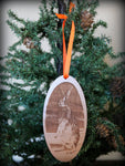 Mister Bunny Ornament - Engraved Wood - Mister's Garden