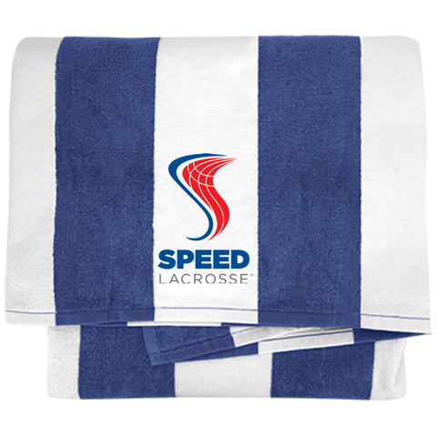 SPEED Cabana Stripe Beach Towel - SPEED Lacrosse™ ProShop