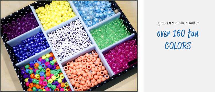Plastic Pony Beads in over 160 colors