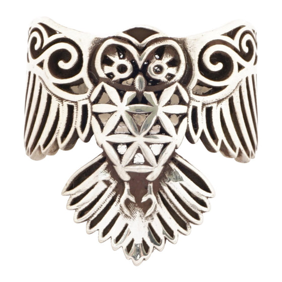 OWL RING - FLOWER OF LIFE