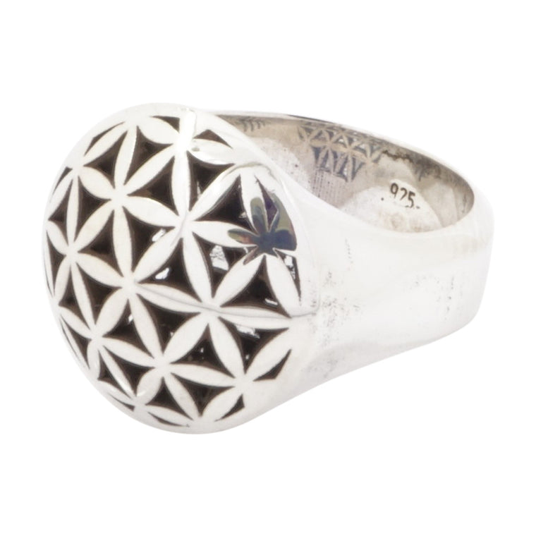DOME RING - FLOWER OF LIFE