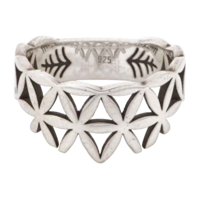 BAND RING - FLOWER OF LIFE